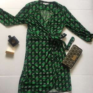New York and Co. Green Wrap Dress
